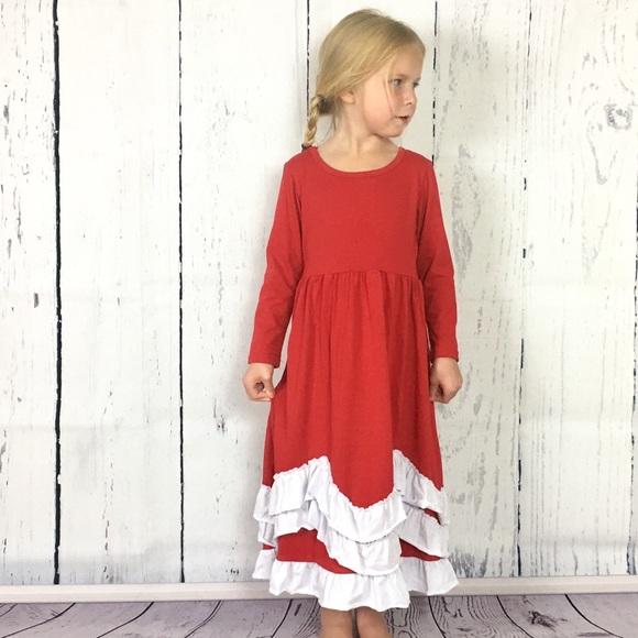 f0341989d85b Jennifer + June Dresses | Sale Nwt Holiday Red White Ruffle Maxi ...
